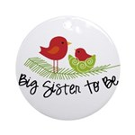 birdie big sister to be christmas shirt Ornament (