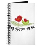 birdie big sister to be christmas shirt Journal