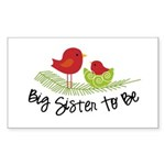 birdie big sister to be christmas shirt Sticker (R