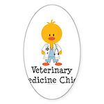 Veterinary Medicine Chick Oval Sticker (10 pk)