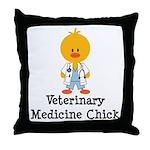 Veterinary Medicine Chick Throw Pillow