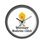 Veterinary Medicine Chick Wall Clock