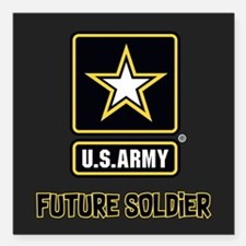 "U.S. Army Future Soldier Square Car Magnet 3"" x 3"""