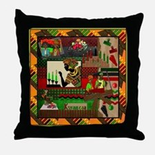 Cute African american holidays Throw Pillow