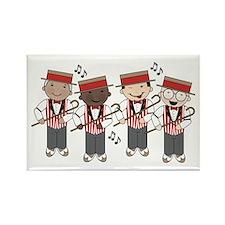 Fun Barbershop Quartet Rectangle Magnet