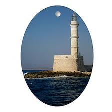 Lighthouse Photo Oval Ornament