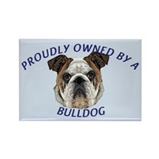 Proudly Owned Bulldog Rectangle Magnet (10 pack)