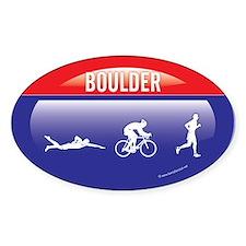 Interstate Boulder Triathlon Oval Decal