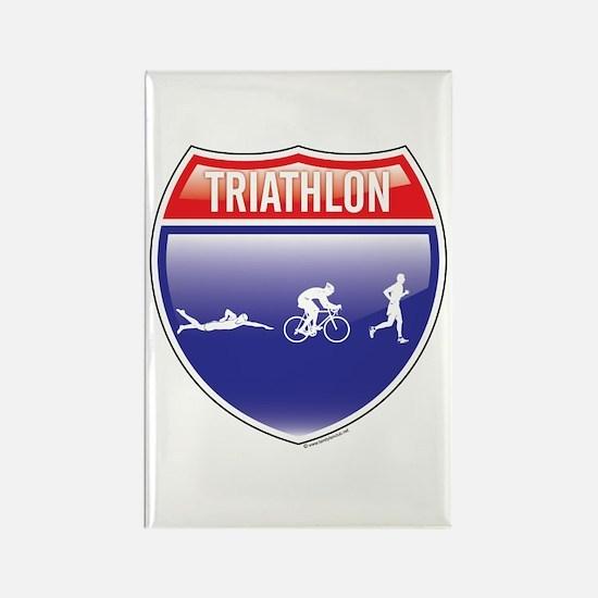 Interstate Boulder Triathlon Rectangle Magnet