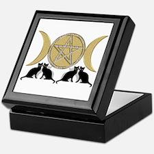 Diamond Pentagram Cats Keepsake Box