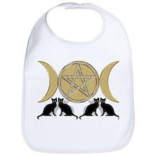 Diamond Pentagram Cats Bib