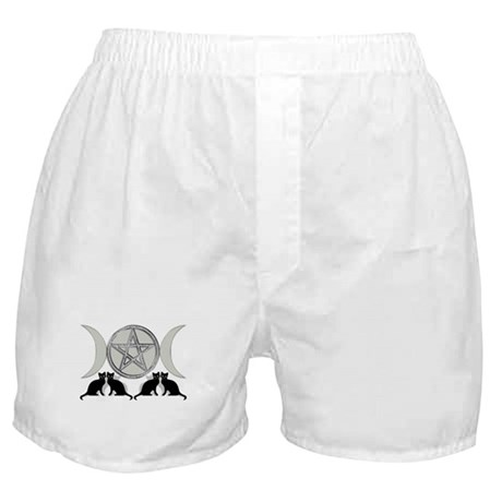 Silver Diamond Pentagram Boxer Shorts
