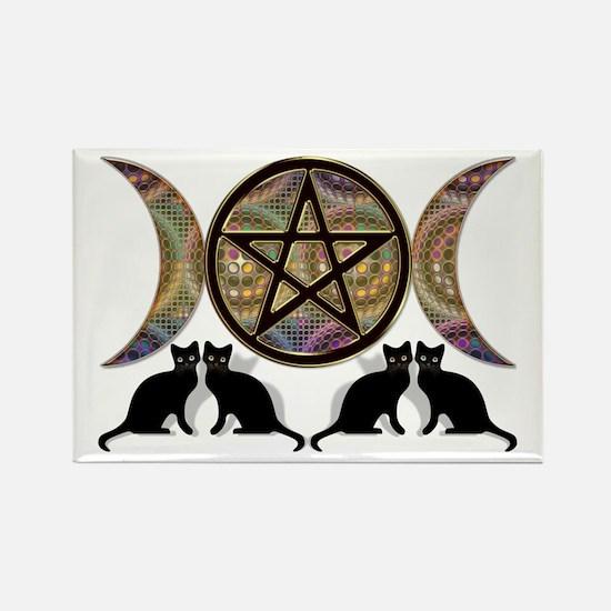 Crystal Ball Pentagram Rectangle Magnet