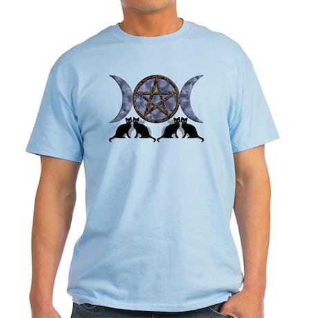 Mystic Blue Pentagram Light T-Shirt