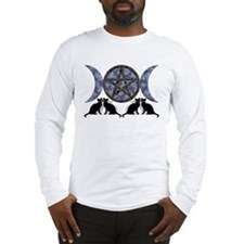 Mystic Blue Pentagram Long Sleeve T-Shirt