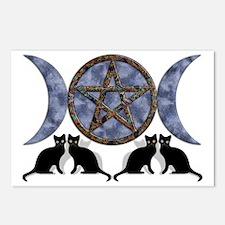 Mystic Blue Pentagram Postcards (Package of 8)