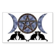 Mystic Blue Pentagram Rectangle Decal