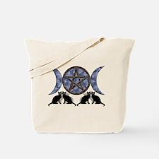 Mystic Blue Pentagram Tote Bag