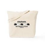 Elephants Don't Belong in Circuses Tote Bag