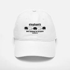 Elephants Don't Belong In Circuses Baseball Baseball Cap