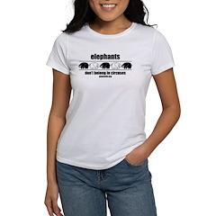 Elephants Don't Belong - Women's T-Shirt