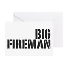 Big Fireman Greeting Card