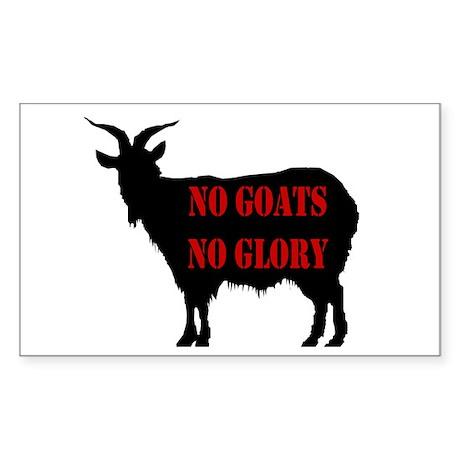 No Goats No Glory Rectangle Sticker
