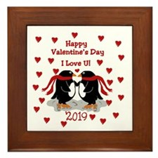 Penguin Valentine 2015 Framed Tile