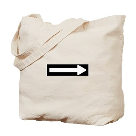 One Way Arrow Sign 1 Tote Bag