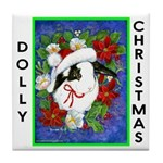 Dolly Christmas Tile Coaster