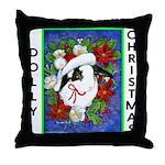 Dolly Christmas Throw Pillow
