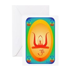 OM MANDALA Greeting Card