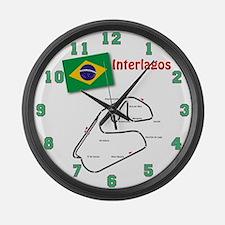 Interlagos Large Wall Clock