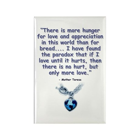 Mother Teresa Love Rectangle Magnet