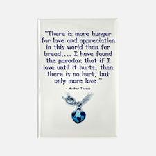 Mother Teresa Love Rectangle Magnet