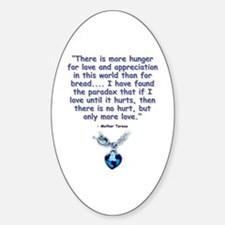 Mother Teresa Love Oval Decal