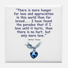 Mother Teresa Love Tile Coaster
