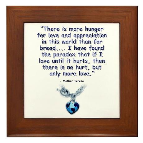 Mother Teresa Love Framed Tile
