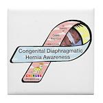 Caleb Ray Cox CDH Awareness Ribbon Tile Coaster