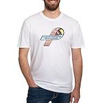 Caleb Ray Cox CDH Awareness Ribbon Fitted T-Shirt