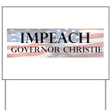 Impeach Christie Yard Sign