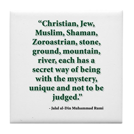 Rumi Religion Quote Tile Coaster