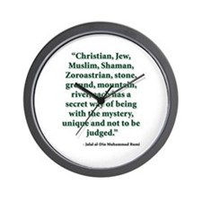 Rumi Religion Quote Wall Clock
