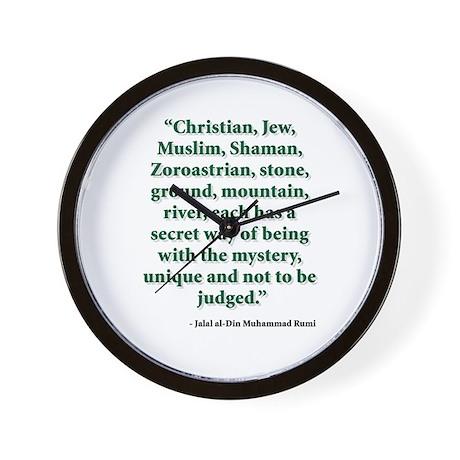 Rumi Religion Quote Wall Clock