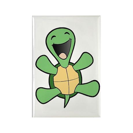 Happy Turtle Rectangle Magnet