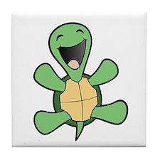Happy Turtle Tile Coaster