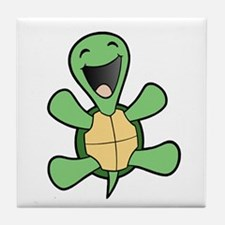 Happy Turtle Tile Coaster