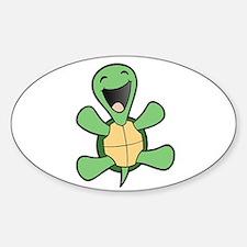 Happy Turtle Oval Bumper Stickers