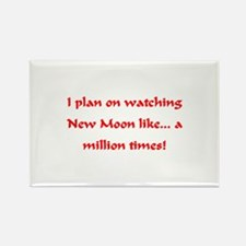 I love watching New Moon Rectangle Magnet