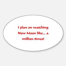 I love watching New Moon Oval Decal
